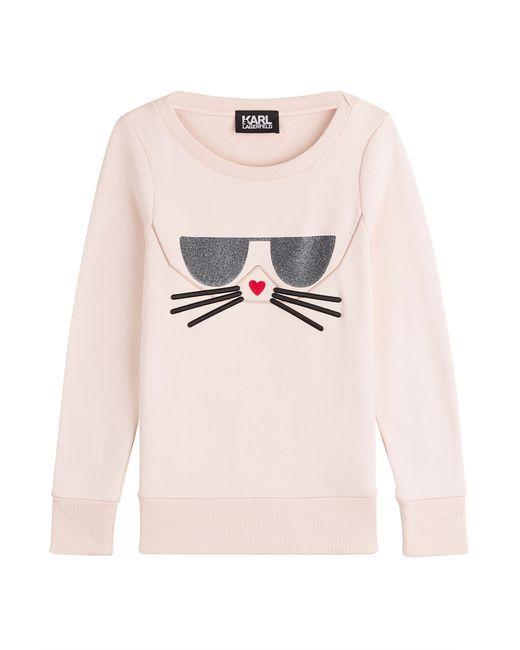 Karl Lagerfeld   Женское Rose Sweatshirt With Cotton Gr. S