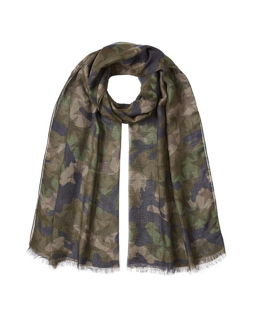 Valentino   Зелёный Printed Scarf With Cashmere And Silk Gr.