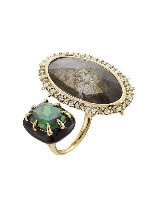 Alexis Bittar | Женское Золотой Cocktail Ring With Crystals Gr. 7