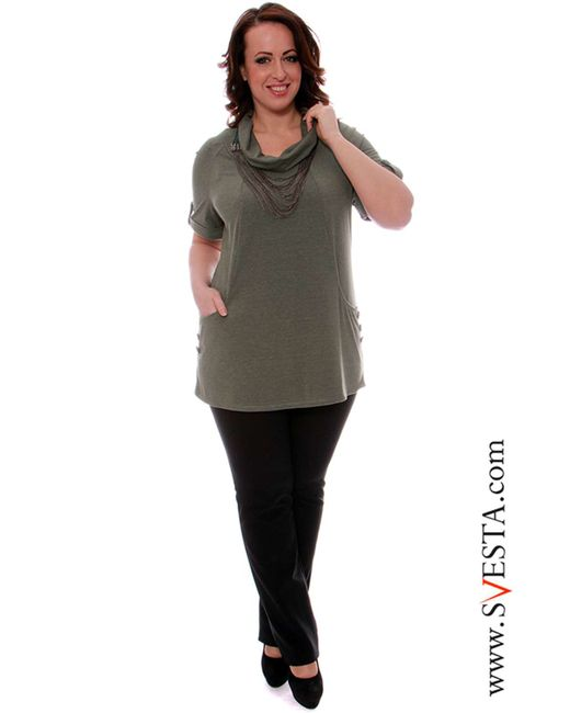 Svesta | Женская Зелёная Блузка