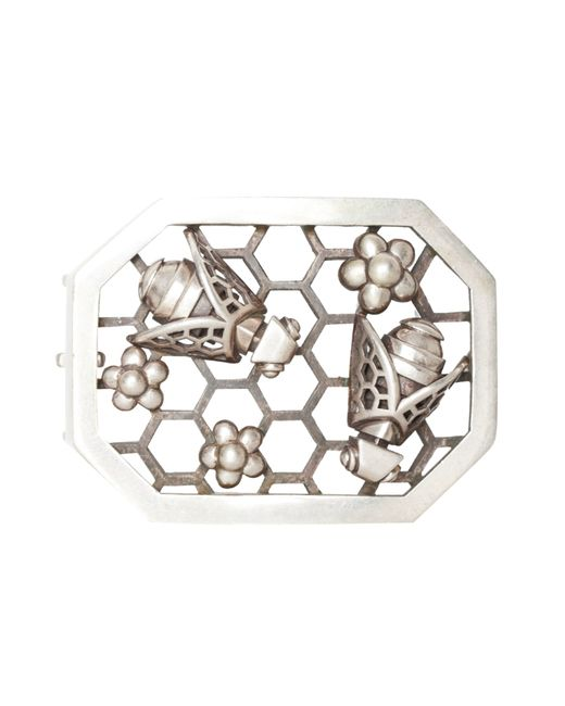Kieselstein-Cord | Женская Серебряная Металлическая Пряжка Honey Bee