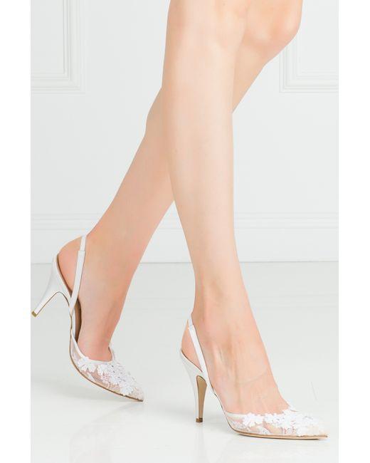 Oscar de la Renta | Женские Белые Шелковые Туфли