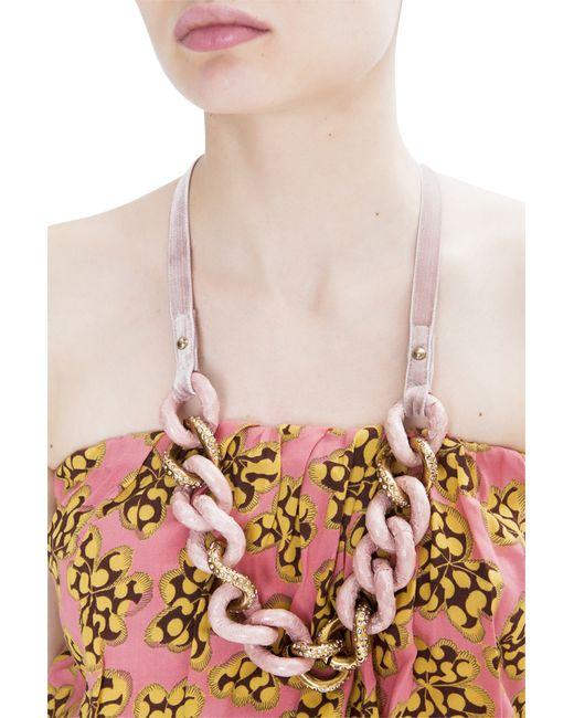 Nina Ricci   Женское Розовое Розовое Колье Из Латуни