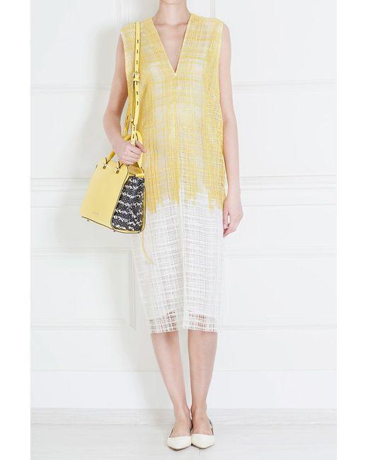 Derek Lam | Женское Жёлтое Платье Из Полиэстера