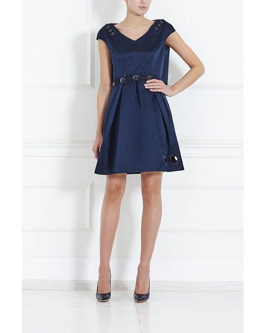 Marc Jacobs   Женское Синее Шелковое Платье