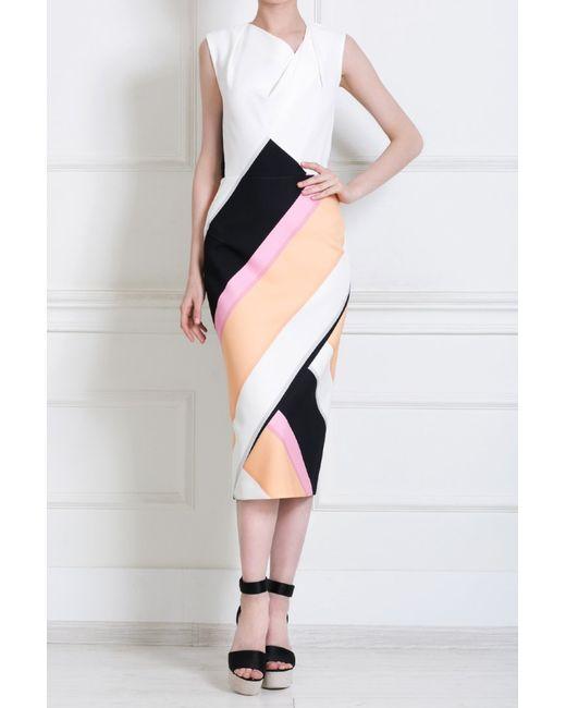 Roland Mouret | Женское Многоцветное Шелковое Платье