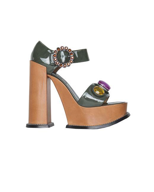 Marc Jacobs | Женские Многоцветные Кожаные Туфли