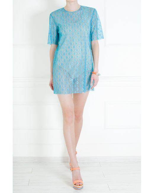 Stella Mccartney | Женское Голубое Платье Из Искусственного Кружева