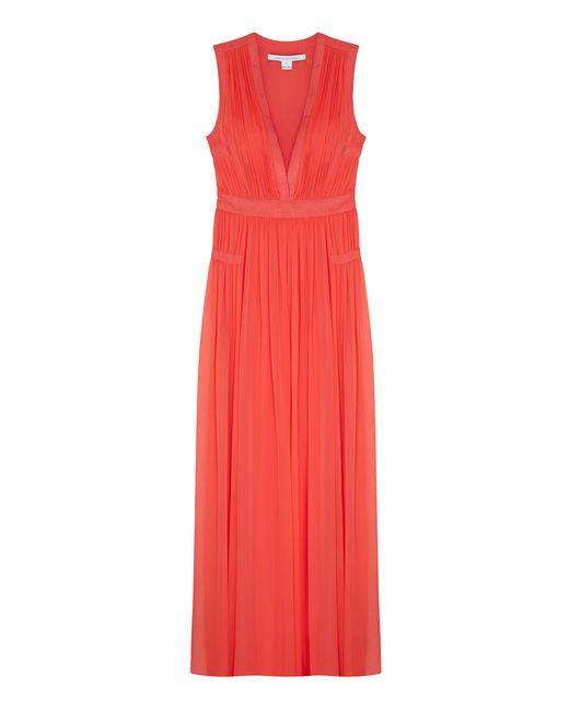 Diane Von Furstenberg | Женское Розовое Шелковое Платье Lelani