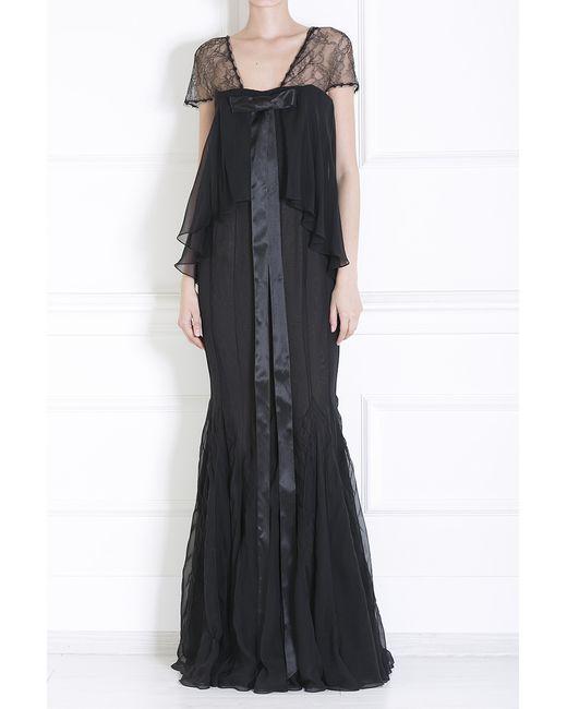 J. Mendel   Женское Чёрное Шелковое Платье