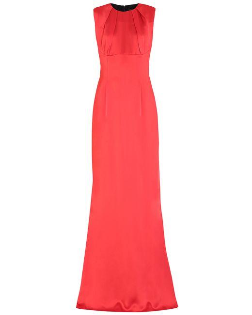 Jonathan Saunders | Женское Красное Платье Из Искусственного Шелка