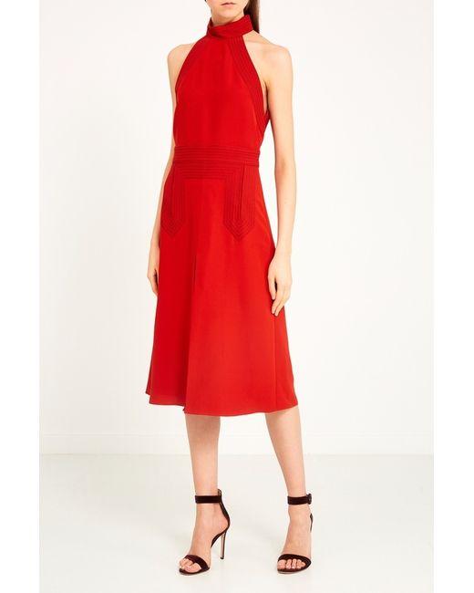 e04718b21ee5677 Женское Красное Платье-Хальтер Gucci 72576