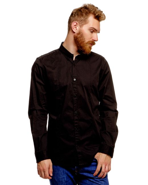 TOM TAILOR | Мужская Чёрная Рубашка