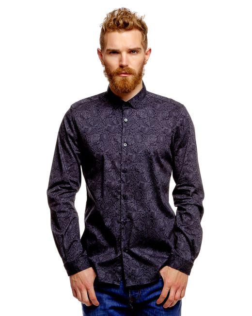 TOM TAILOR | Мужская Синяя Рубашка 203029700156800