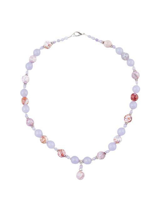 Shams | Женское Фиолетовое Ожерелье 124667