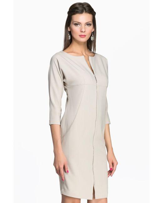 Pallari | Женское Бежевое Платье 4091-7dr