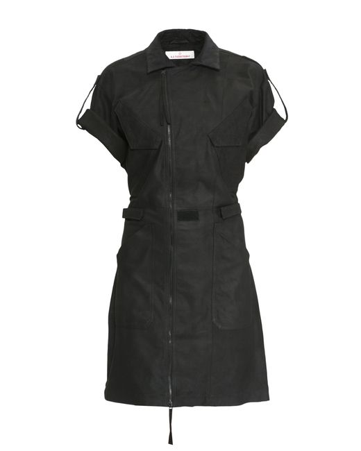 A.F.Vandevorst | Женское Чёрное Кожаное Платье Sf-151 Drift-L-002