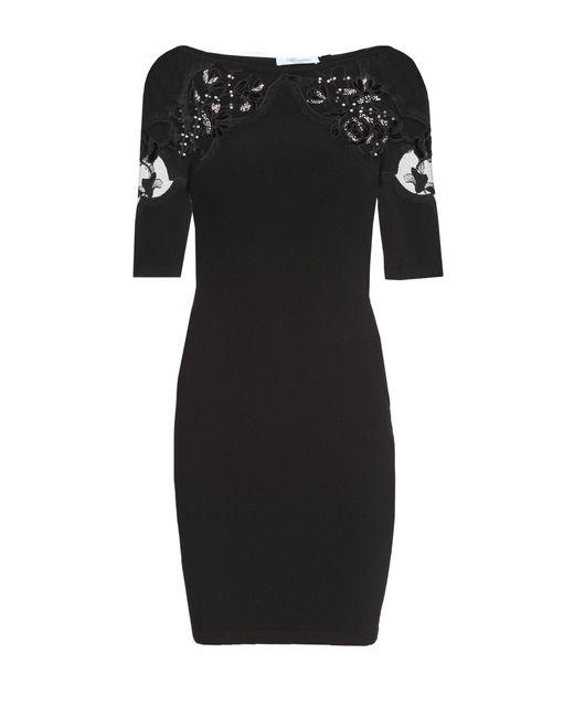 Blumarine   Женское Чёрное Трикотажное Платье 162228