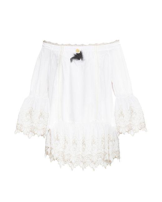 ELISA CAVALETTI | Женская Белая Блуза-Туника 165158