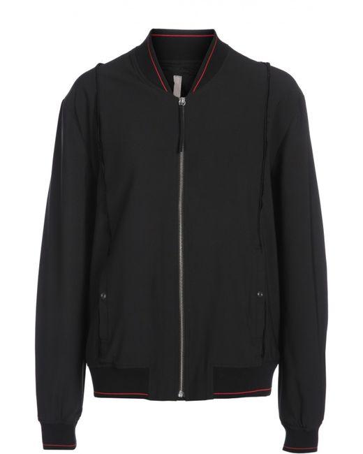 Silent | Мужская Чёрная Куртка-Бомбер