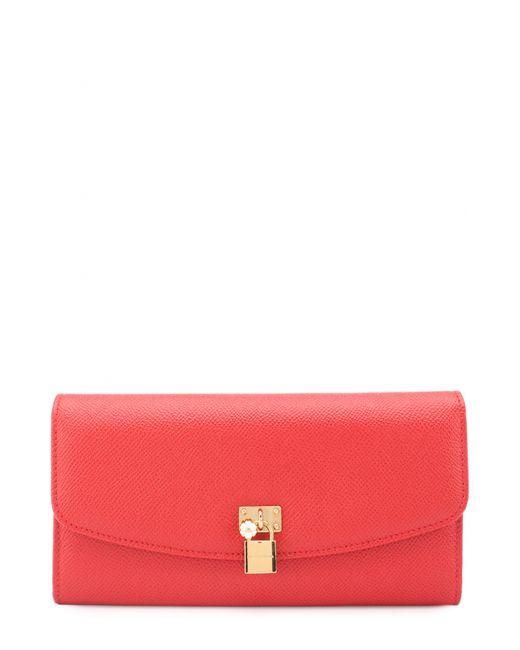 Dolce & Gabbana | Женское Красное Кожаное Портмоне С Подвеской