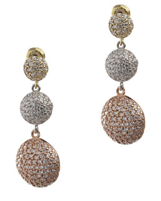 Royal Crown | Женские Золотые Серьги