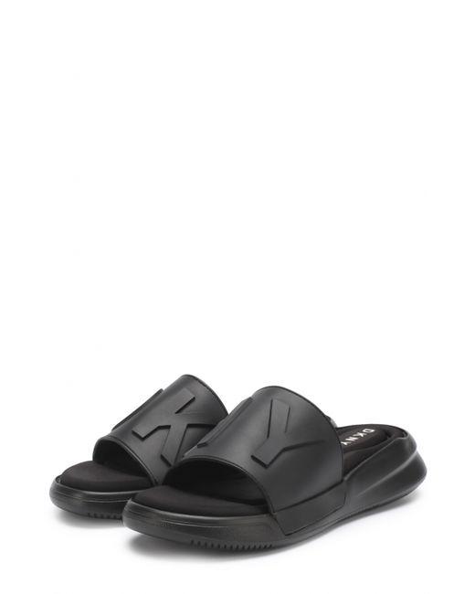 DKNY | Женские Чёрные Резиновые Шлепанцы Rebecca С Логотипом Бренда