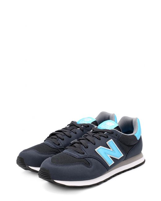 New Balance | Женские Синие Комбинированные Кроссовки 500 На Шнуровке