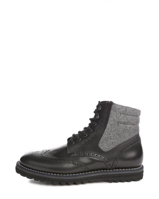 W.Gibbs | Мужские Чёрные Ботинки