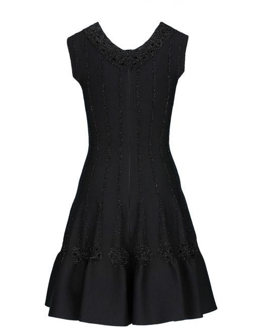 Alaïa | Женское Чёрное Платье Вечернее