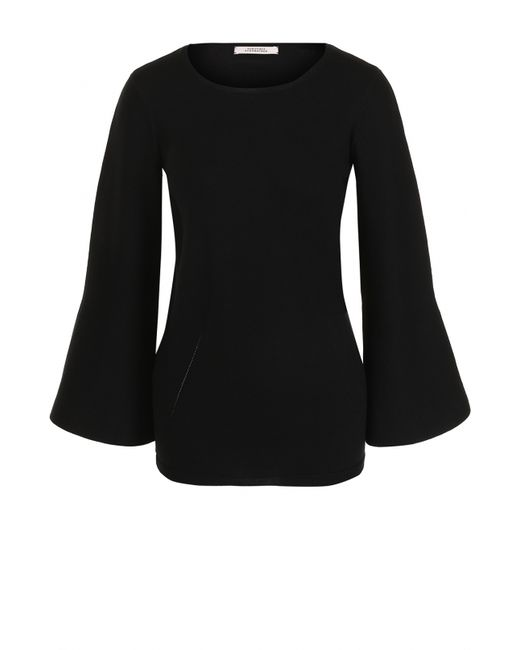 Dorothee Schumacher | Женский Чёрный Шерстяной Пуловер С Расклешенными Рукавами