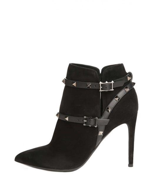 Valentino | Женские Чёрные Ботильоны Noir