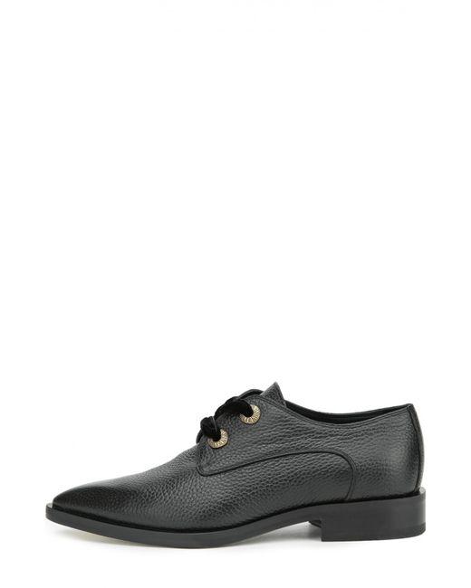 Lanvin | Женские Чёрные Кожаные Ботинки С Зауженным Мысом