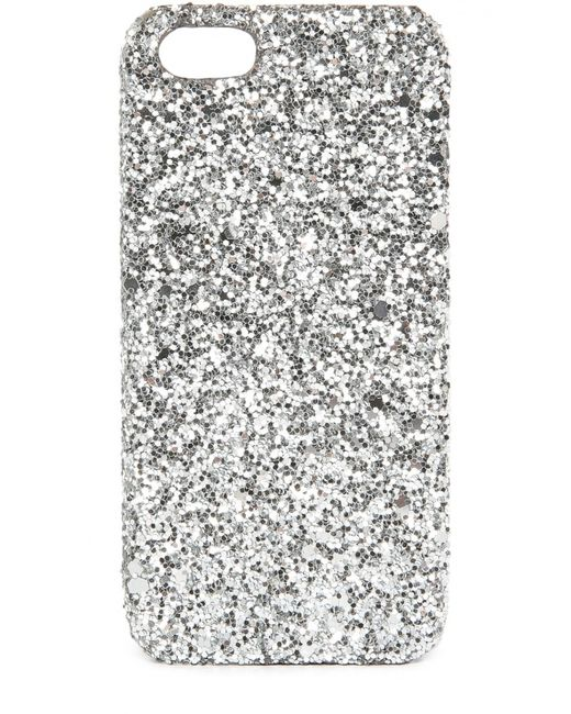 Saint Laurent | Серебряный Чехол Для Iphone Se/5s/5 С Глиттером
