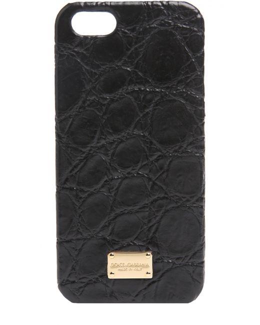 Dolce & Gabbana | Чёрный Чехол Для Iphone Se/5s/5 Из Кожи Крокодила