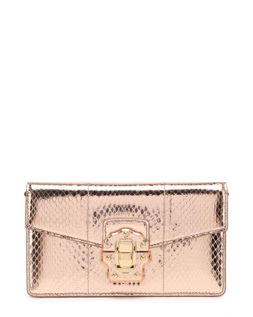 975a12fcca27 Dolce & Gabbana - Женский Золотой Клатч Lucia Из Металлизированной Кожи