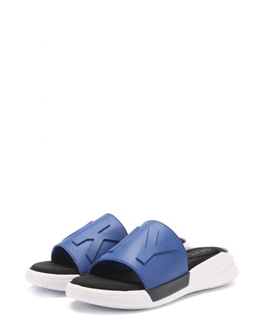 DKNY | Женские Синие Резиновые Шлепанцы Rebecca С Логотипом Бренда