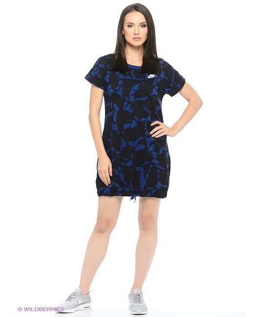 Nike | Женское Синее Платье W Nsw Drss Flc Aop