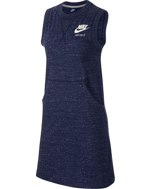Nike | Женское Синее Платье