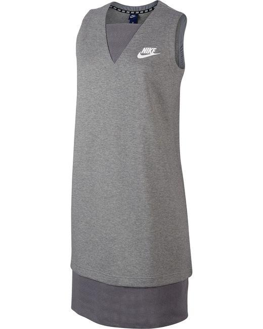 Nike   Женское Серое Платье W Nsw Av15 Drss Mesh