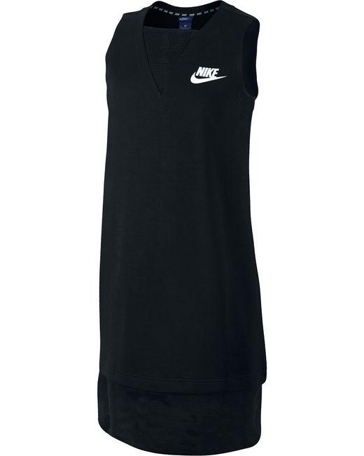 Nike | Женское Чёрное Платье W Nsw Av15 Drss Mesh