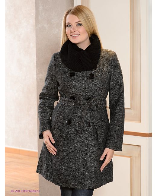La Reine Blanche | Женское Чёрное Пальто