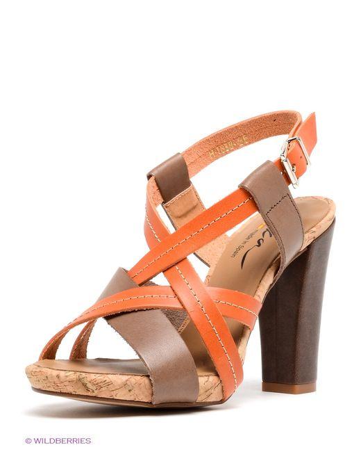 Liska | Женские Оранжевые Босоножки