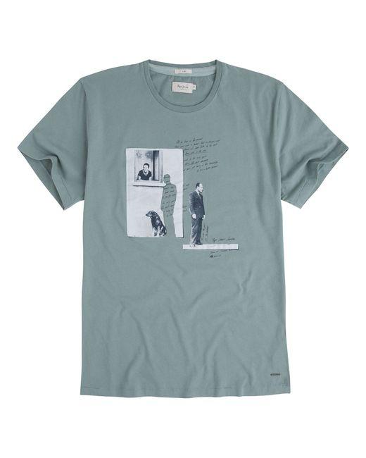 Pepe Jeans London | Мужская Зелёная Футболка Rimbaud