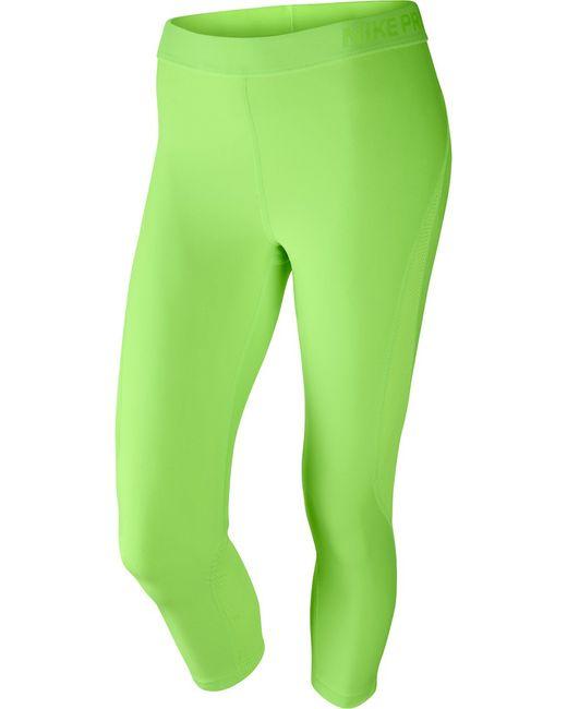Nike   Женское Зелёное Капри W Np Hprcl Cpri Summ Wash