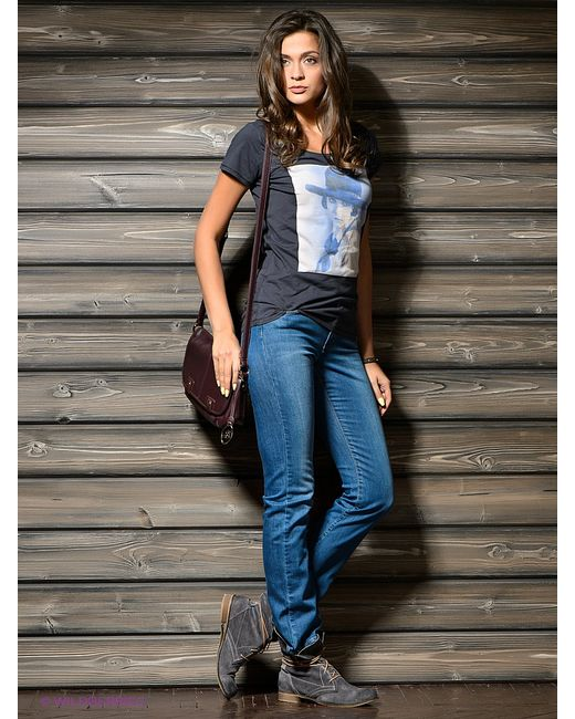 Wrangler | Женские Синие Джинсы