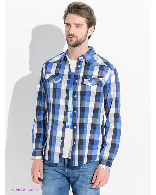 Wrangler   Мужские Синие Рубашки