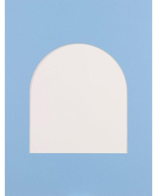 Матренин Посад | Голубое Паспарту С Фигурной Вырубкой Аркой