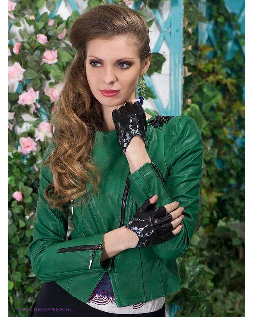 Eleganse | Женские Чёрные Митенки