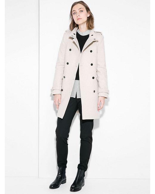 Mango | Женское Молочное Пальто